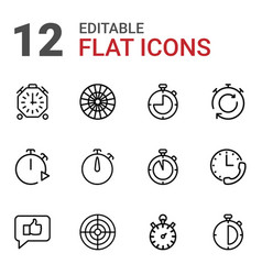 12 accurate icons vector