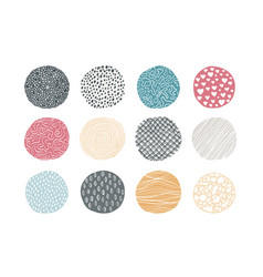Abstract circle pattern natural geometric texture vector