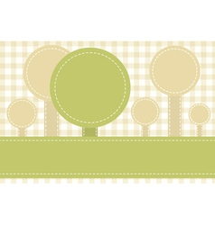 abstract sewed stripes and rounds vector image
