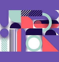 abstract trendy design geometric shapes pattern vector image
