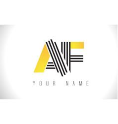 Af black lines letter logo creative line letters vector