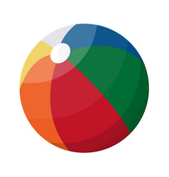 beach ball in different colors vector image