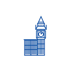 big ben london line icon concept big ben london vector image
