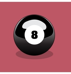 Billiard ball realistic vector image vector image