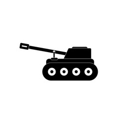 Black icon on white background military tank vector
