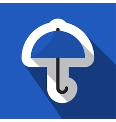 blue information icon - umbrella vector image