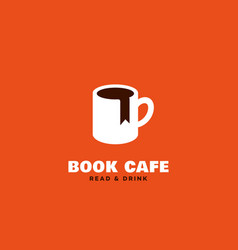 Book cafe logo vector