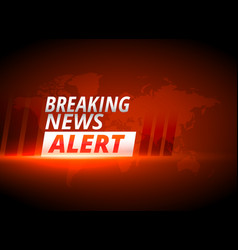 Breaking news alert background in red theme vector