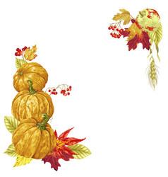 bright harvest season autumn frame vector image