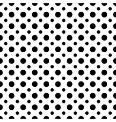 Circle black seamless pattern vector image