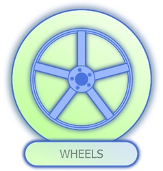 Commercial icons and symbols of car parts - Wheels vector image