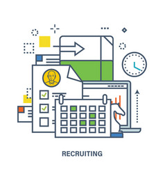 concept of recruitment in work vector image