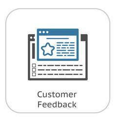 Customer feedback line icon vector