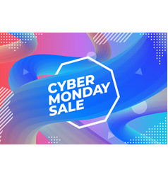 cyber monday sale colorful advertising poster or vector image