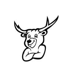 Deer mascot logo vector