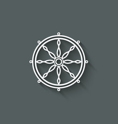 dharma wheel design element vector image