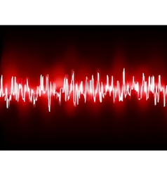 Electronic sine sound or audio waves EPS 10 vector image