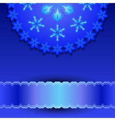 Filigree pattern with snowflakes vector