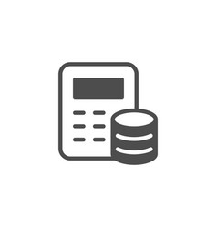 financial calculation and accounting icon vector image