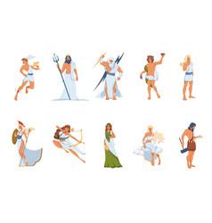 Greek gods and goddesses set vector
