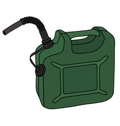 Green plastic canister vector