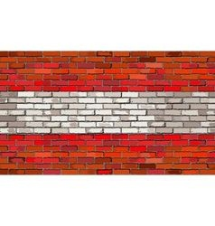 Grunge flag of Austria on a brick wall vector image