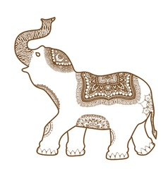 hand-drawn Elephant vector image