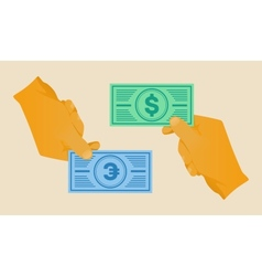 hand money vector image
