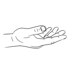 hand or asking for support gesture from black vector image