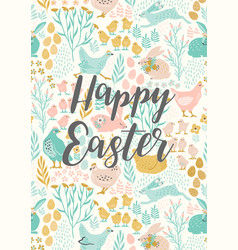 Happy easter templates for card poster vector