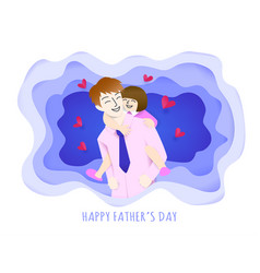happy father and daughter vector image
