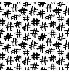 hashtag grunge seamless pattern vector image