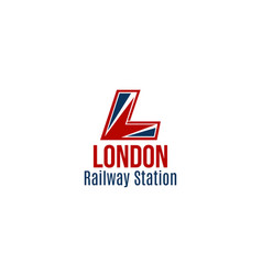 icon london railway station vector image