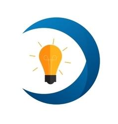 Idea Bulb Flat Icon with Long Shadow vector