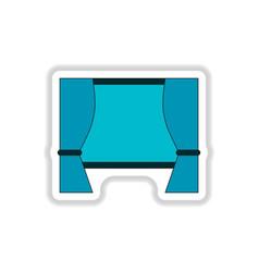 In paper sticker style movie vector