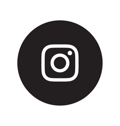Instagram icon vector