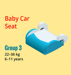isometric baby car seat group 3 vector image