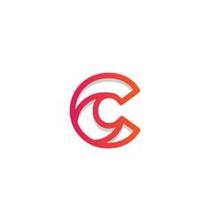 Letter c set logo template vector