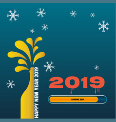 Loading happy new year 2019 vector