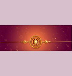 Lovely rakhi design for raksha bandhan festival vector