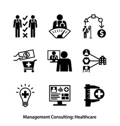 management consulting - healthcare vector image