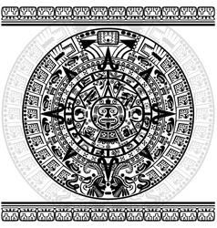 Mayan calendar vector