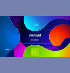 modern gradient shape background colorful vector image