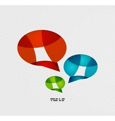 Modern paper design chat concept vector