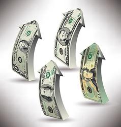 money arrows vector image