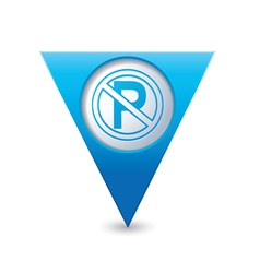 No parking symbol map pointer blue vector