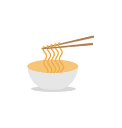 noodle graphic design template isolated vector image