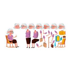 old woman senior person portrait elderly vector image