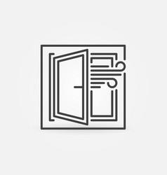 Opened window airing room concept vector