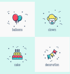 organization birthday party and event vector image